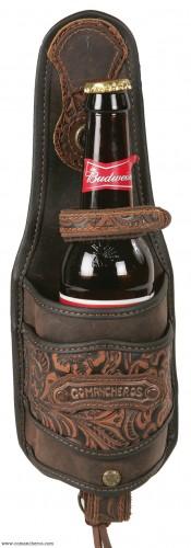 Leather Bottle Holder for saddle and Belt