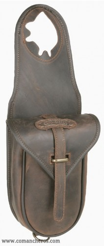 Quick release western saddle bag