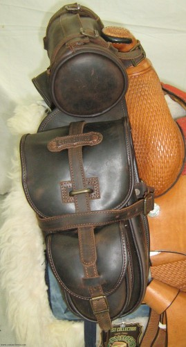 Trekking saddlebags with roll
