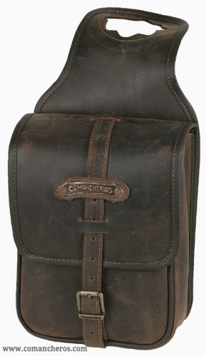 Leather square pommel bag