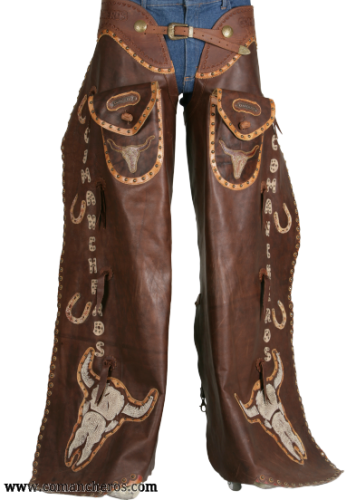 Batwing Chaps with Long Horn