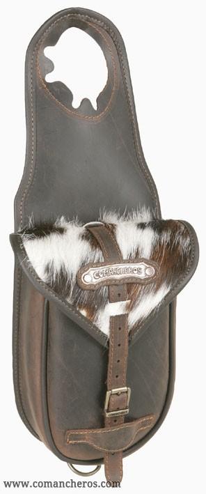 Cowboy pommel bag in cowhide