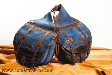 Rear saddlebags in denim