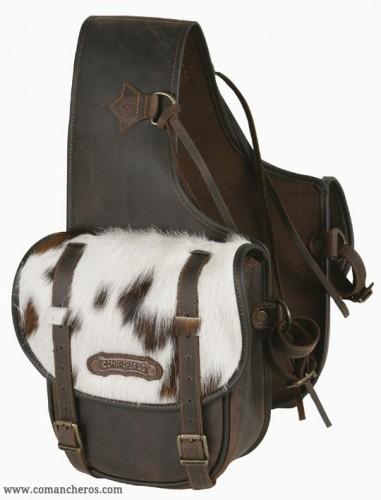Medium rear saddlebags with cowhide
