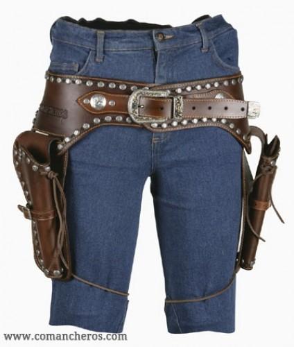Double Pistol Holder Belt