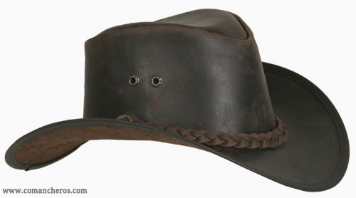 Country Style  Leather Hat with braid