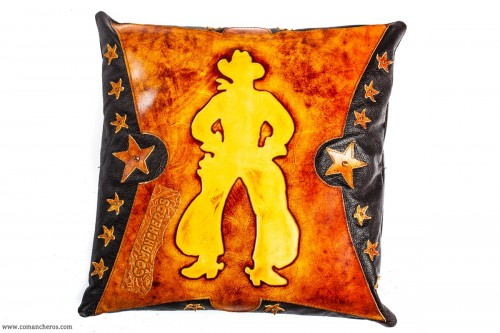 Cowboy Leather Pillow