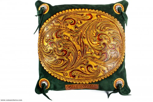 Old America Leather Pillow