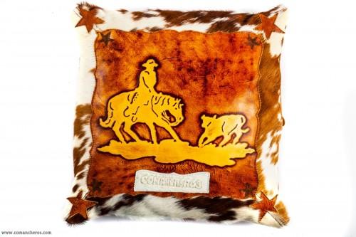 Team Penning Leather Cushion