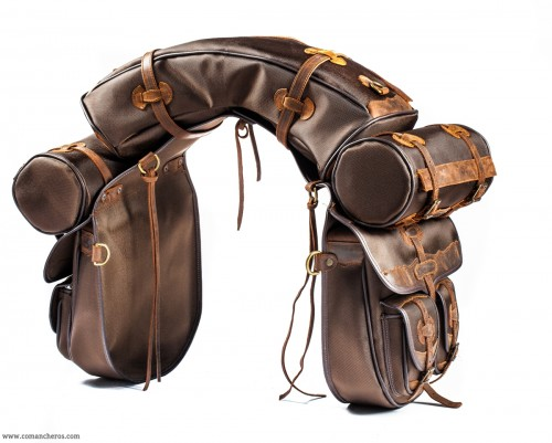 Saddlebag set with two small pockets