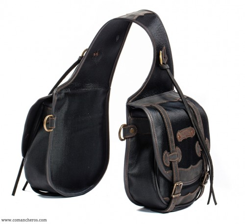 Rear medium saddlebags in black Cordura
