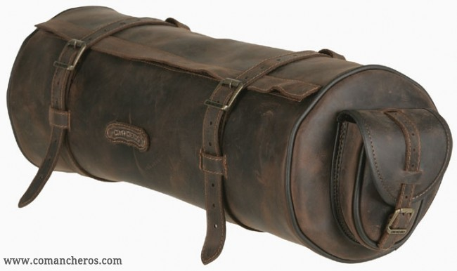 Round Saddle Bag With Pockets For Western In Leather