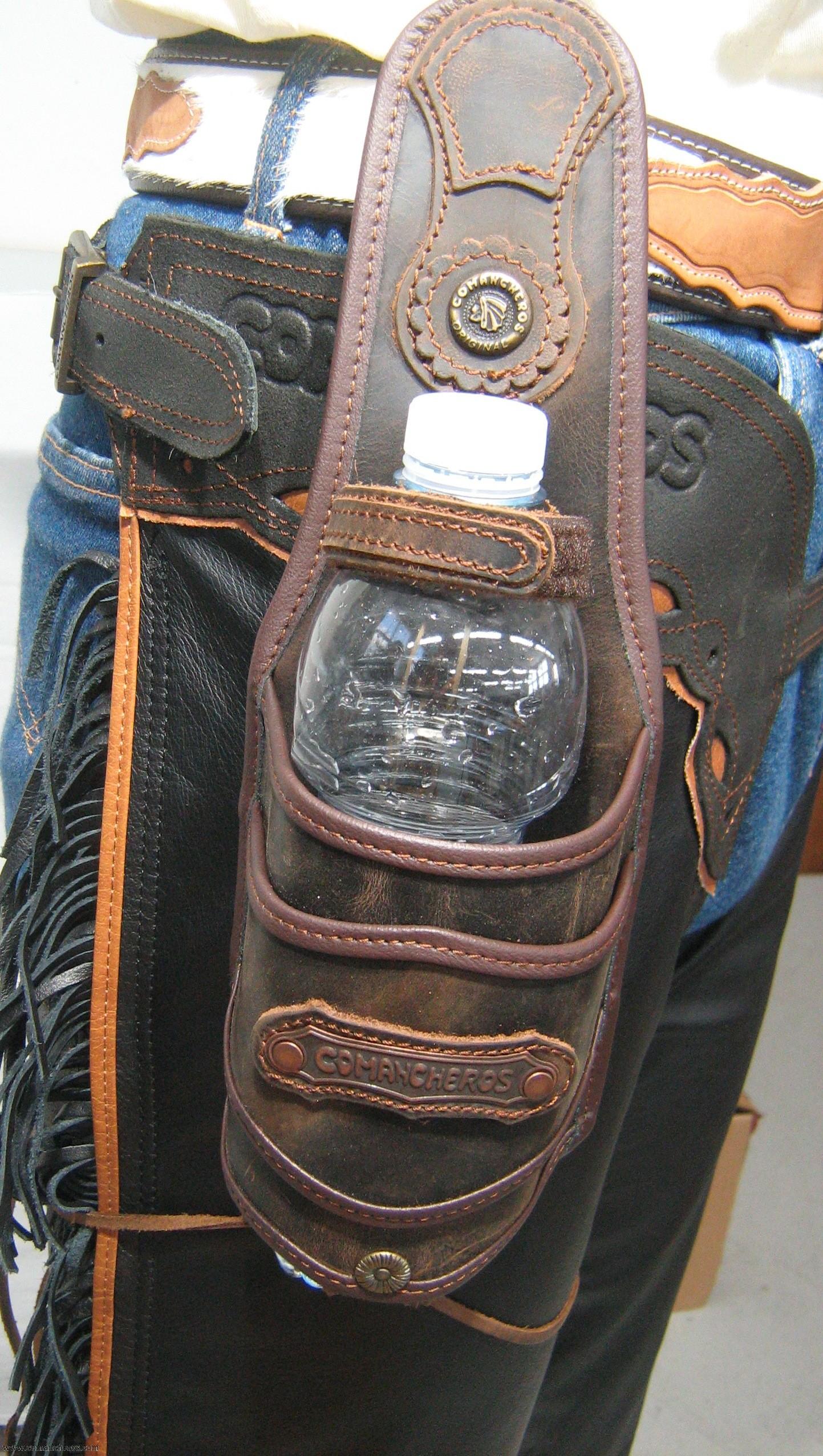 Bottle Holder For Saddle And Belt Made Waterprrof Leather