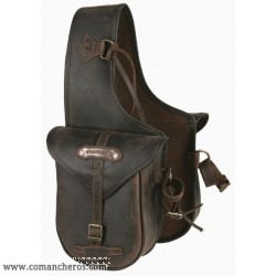 Rear Small Saddle bag with buckle in Leather