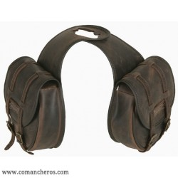 Double Horne saddlebag in Leather with buckles