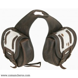 Double Horne saddlebag Comancheros made from Leather
