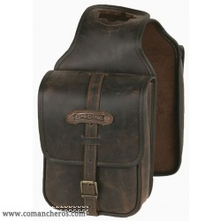 Western Double and spacious Leather Horne saddle bag Comancheros