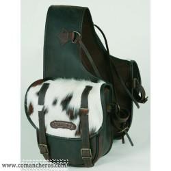 Rear Medium saddle bag Comancheros for Horse Trekking with calf hair