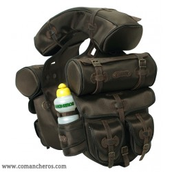 Complete saddle bag for Trekking saddle made  Cordura STC and Leather