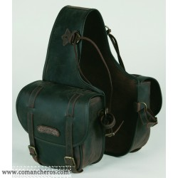 Medium Rear saddle bag with buckle in Leather