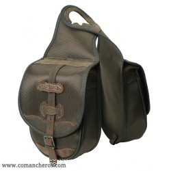 Double  pommel saddle bag made from Cordura STC and Leather