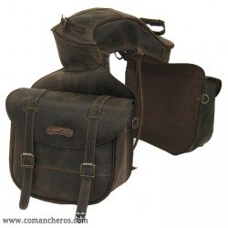 Large Rear saddle bag with pouch in Leather