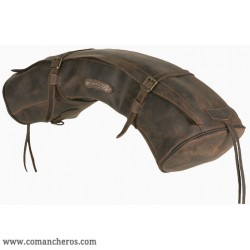 Leather Half-moon shaped cantle bag for Western saddle