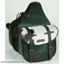 Rear Large saddlebag Comancheros for Horse Trekking with calf hair