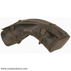 Half-moon shaped cantle saddle bag in Leather for western saddle
