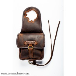 Leather  Small Horn Saddle Bag
