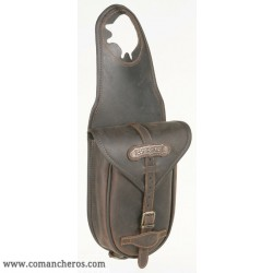 Horn saddle bag in Leather with buckle