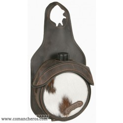 Bag bottle holder Comancheros  made Leather and calf Hair