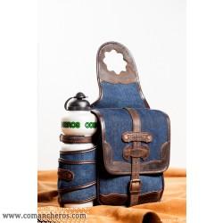 Westerhorne saddlebag from Denim with bottle