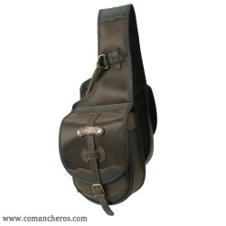 Small front saddle bag made from Cordura STC and Leather