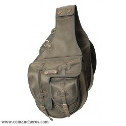 Large  Western saddle bag with two pockets made from Cordura STC and Leather