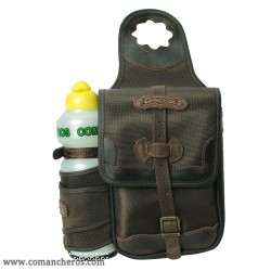 Western horne saddle bag from Cordura STC with bottle