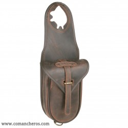 Leather Single  Horn Saddle Bag with quick release