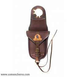 Single horn saddle bag made with special  nylon and Leather