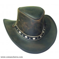 Leather Hat Country modell with band