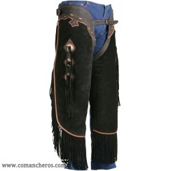 Trimmed chaps Chinks made from softest suede