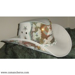 Leather Western hat with Swarovski
