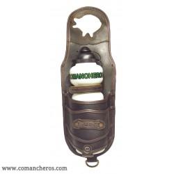 Leather Horn bag  bottle holder Comancheros