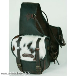 Rear Medium saddle bag Comancheros for Horse Trekking with calf hair