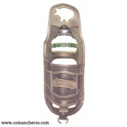 Bottle holder  Comancheros for pommel with Cordura and Leather