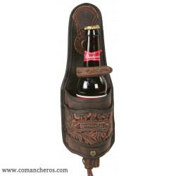 Leather Bottle Holder for saddle and Belt
