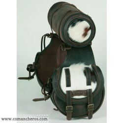 Rear saddlebag small size Comancheros with round saddlebag made from Leather