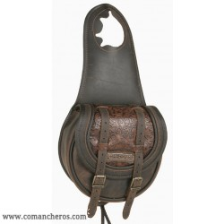 Horn leather saddle bag