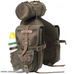 Front saddlebags in Cordura and Leather
