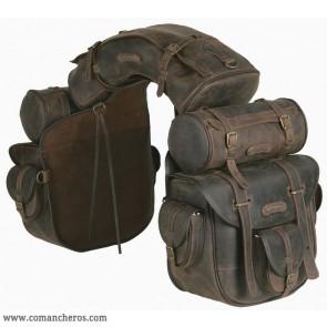 Большие седельные сумки из натуральной кожи