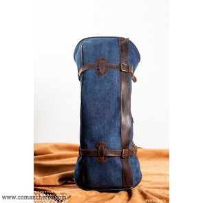 Banana saddlebag in denim with profiling